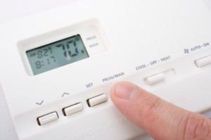 What does it mean when your thermostat is blinking a red light.