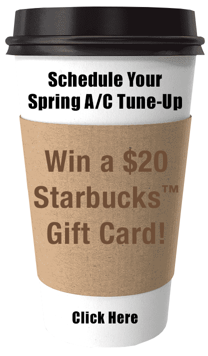 Coffee Cup with Schedule Tune-Up Contest text