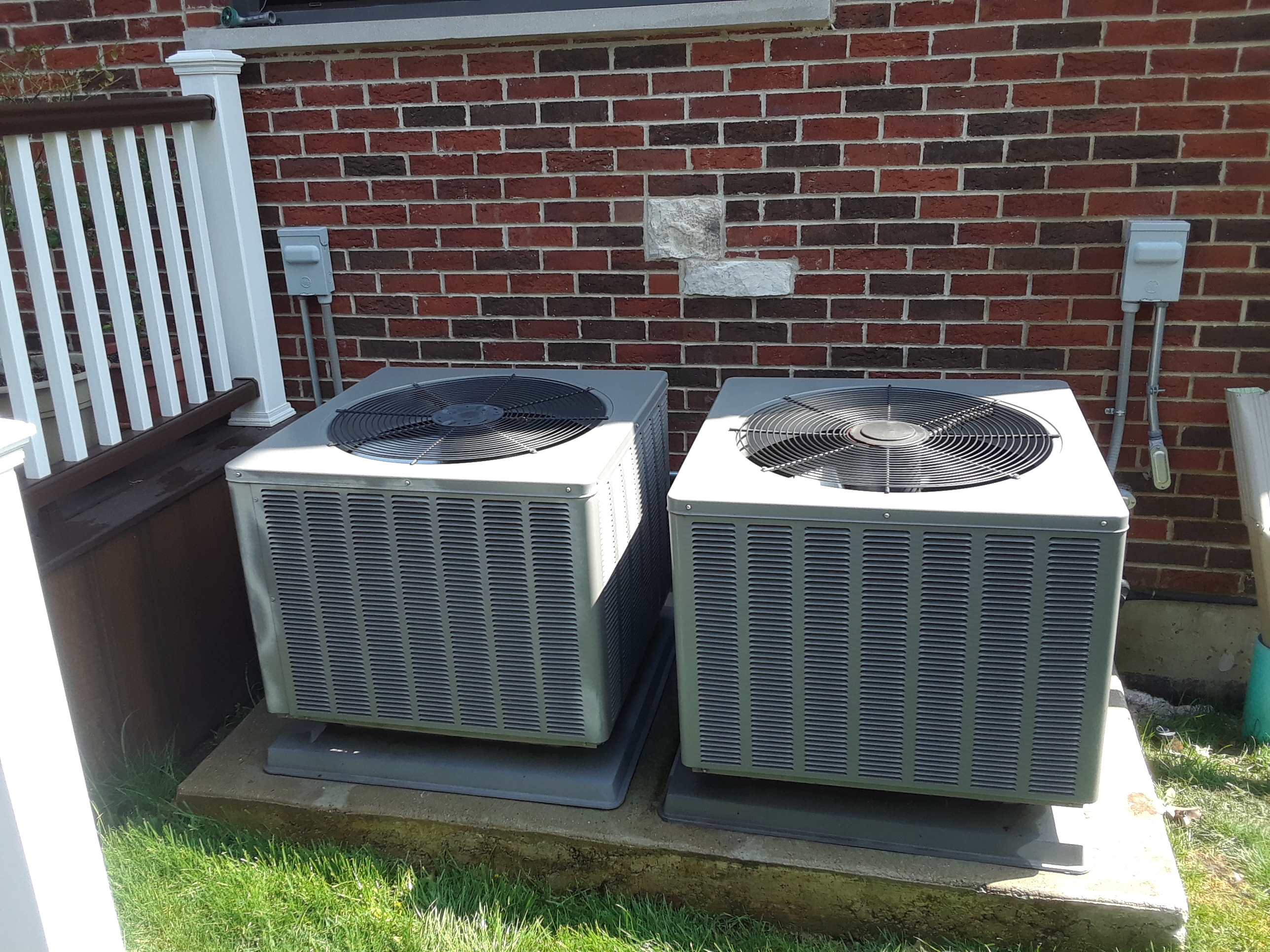 2 a.c. maintenance in Morton grove RHEEM units